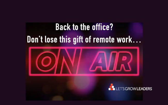 back to the office - give gift of silence