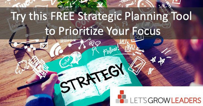 strategic planning tool from Lets Grow Leaders