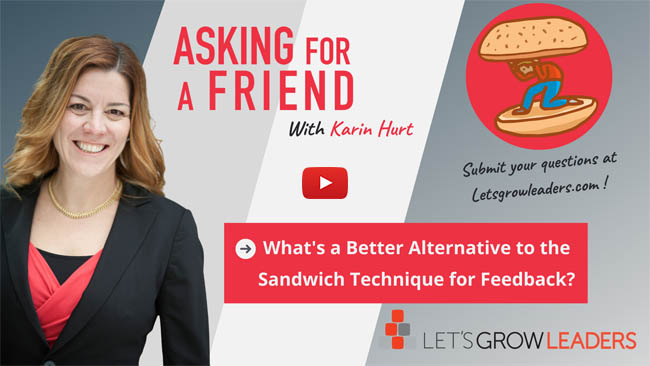 sandwich feedback why it doesn't work