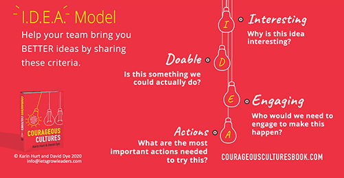 Encourage idea sharing
