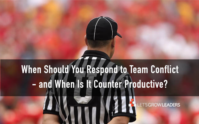 how to deal with team conflict